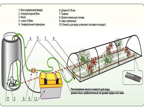 автоматическое управление поливом в теплице