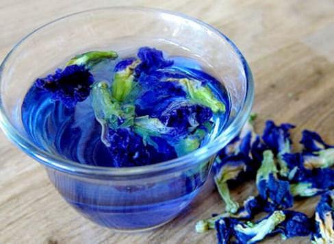 фиолетовый синий чай